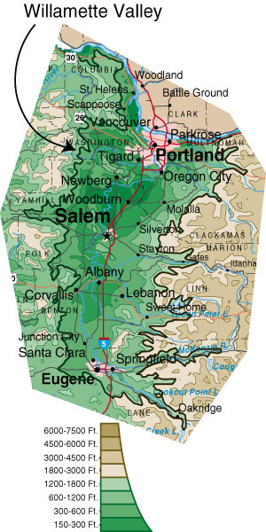 Willamette valley