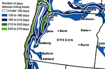 Oregon growing zones