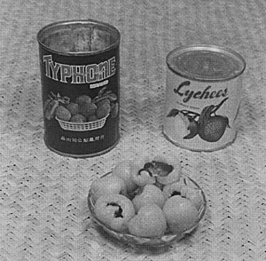 Canned, peeled, and seeded, lychees